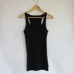 Ambiance Long Racerback Tank Black Size Large